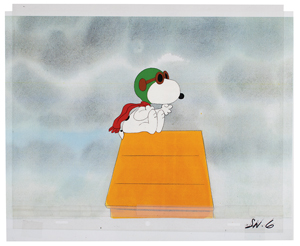 Snoopy production cel from a MetLife commercial