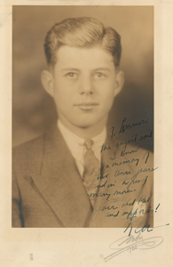 John F. Kennedy 1935 Choate Senior Year Portrait Inscribed to Lem Billings