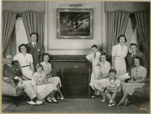 John F. Kennedy: New York Original 1938 Fabian Bachrach Portrait of the Kennedy Family at Home in Bronxville