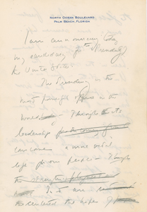 John F. Kennedy Historic 3-Page Handwritten Draft for his Speech Announcing his Intention to Run for the Presidency in 1960