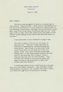 John F. Kennedy 1962 Typed Letter Signed as President on Guerilla War