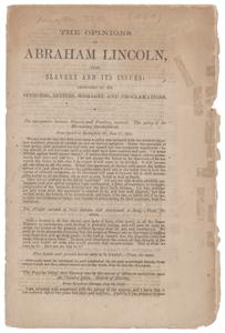 Abraham Lincoln Slavery Opinion