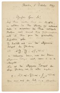 Max Planck (October 5, 1897)