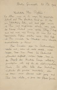 Max Planck (July 20, 1906)
