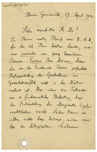 Max Planck (April 17, 1920)
