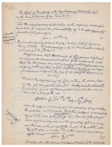 Ludwik Silberstein Autograph Manuscript Signed: 'The Effect of Clumping on the Size-Frequency Distribution and on the H. and D. Curve of an Emulsion'
