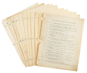 Ludwik Silberstein's Typed and Handwritten Personal Bibliography